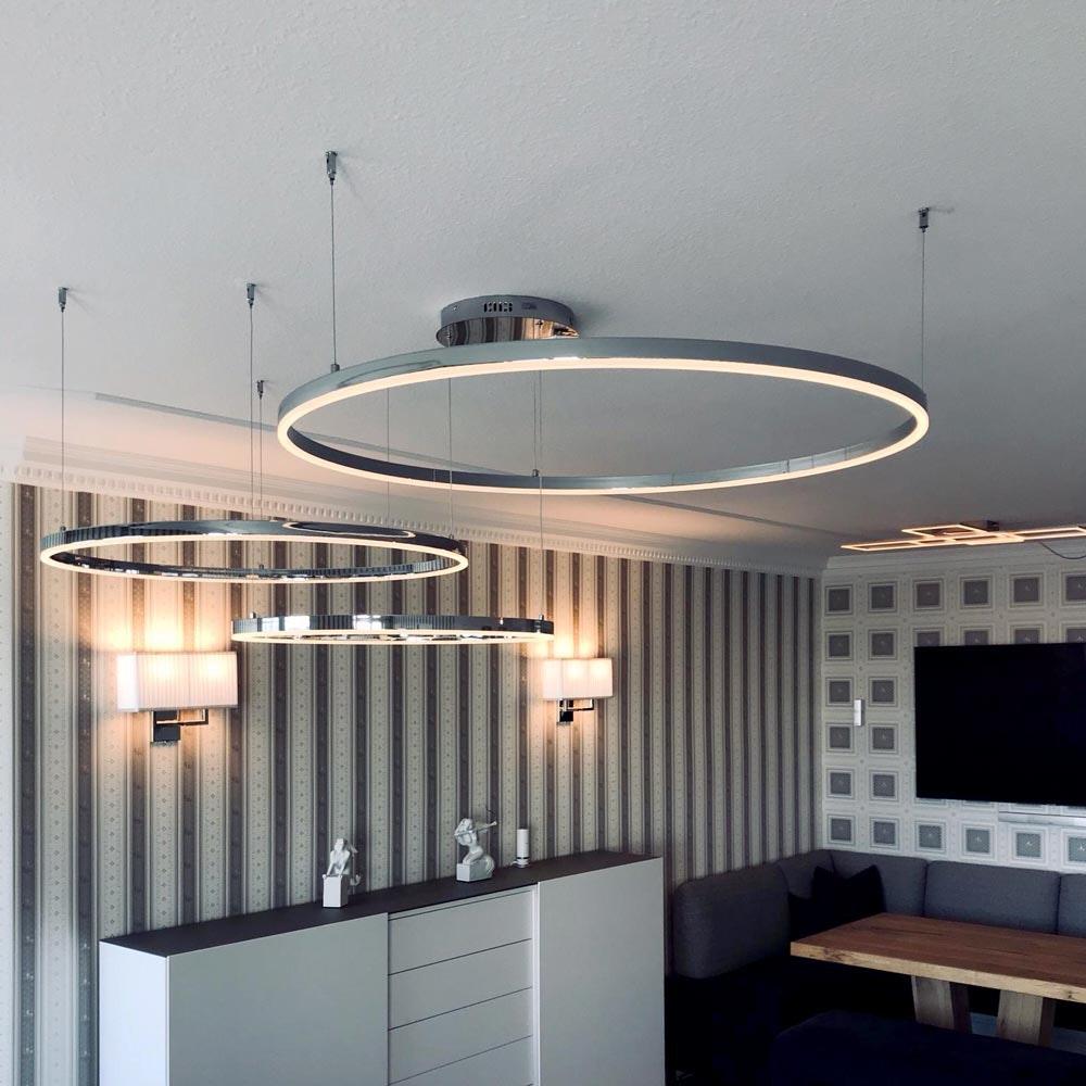 s.LUCE Ring 100 LED Hängelampe 5m Abhängung 1