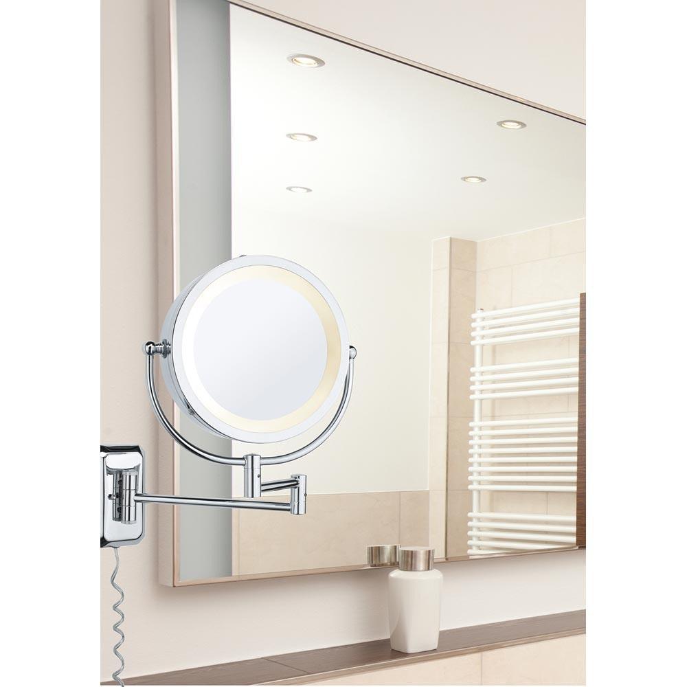 Wandleuchte Bela Kosmetikspiegel Chrom Spiegel Glas 2