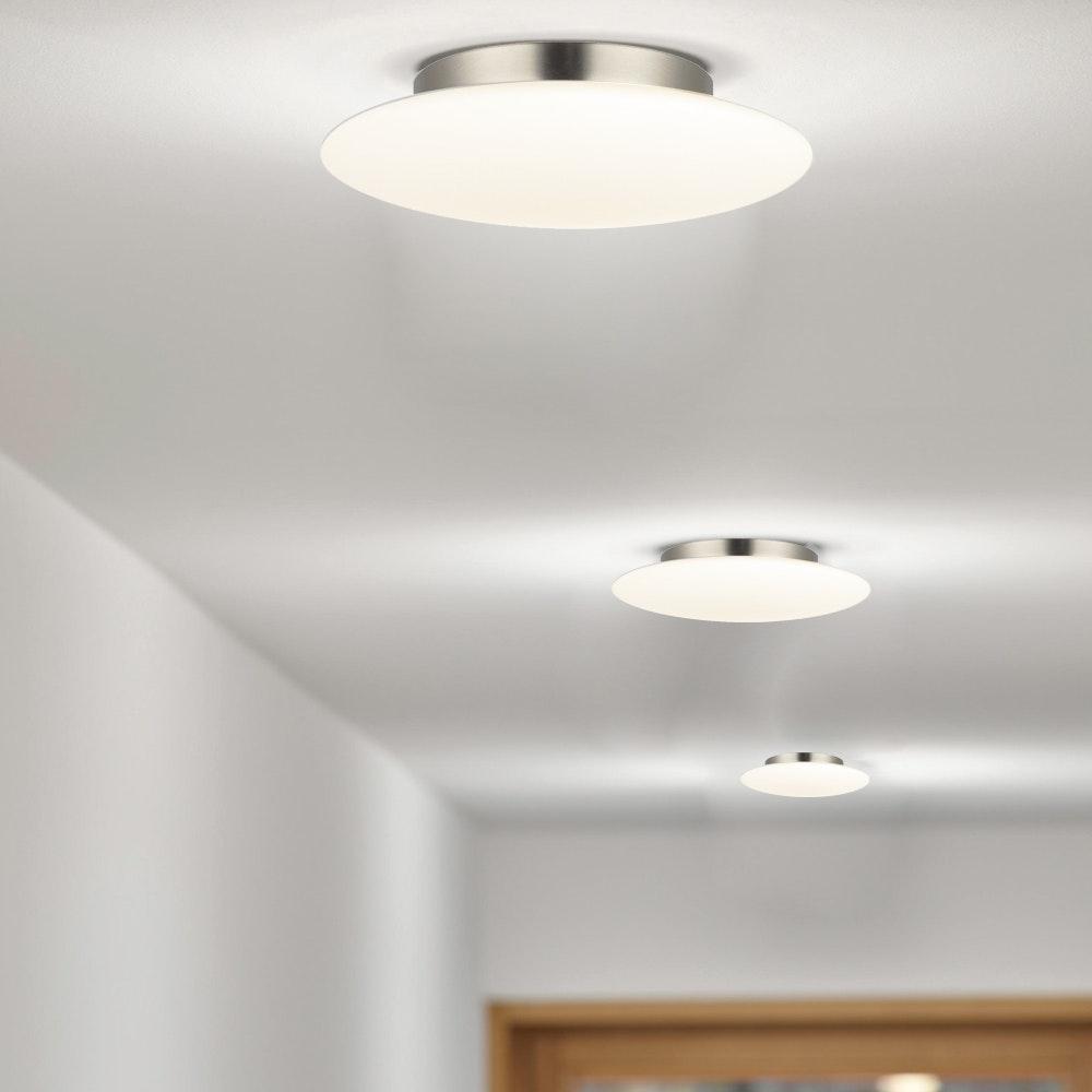 s.LUCE Pane 15 puristische Glas LED Decken- & Wandleuchte Weiß