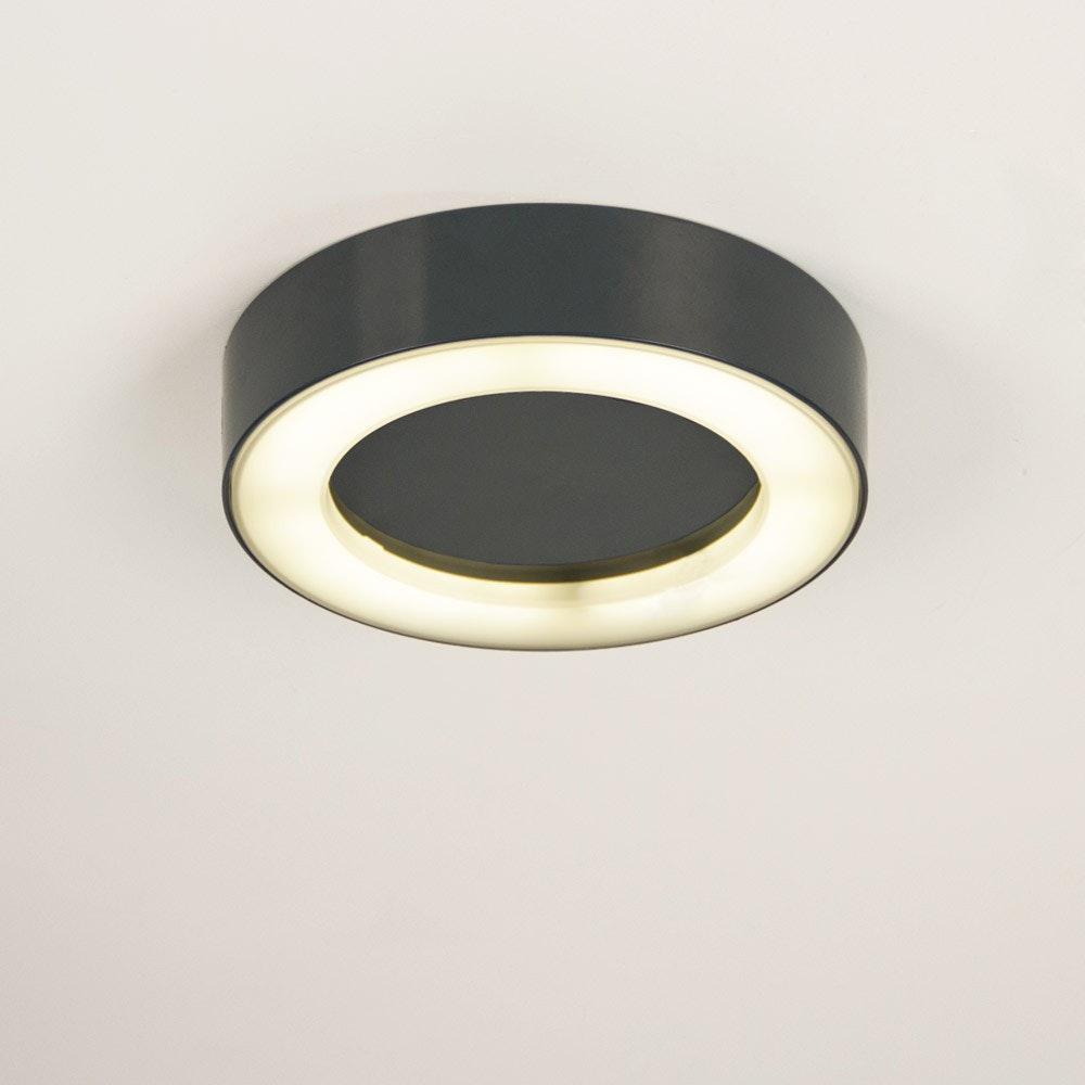 s.LUCE Hole LED-Aussenleuchte Ø 20cm Wand & Decke 10W Anthrazit 3