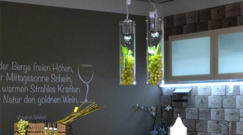 Dekoleuchten aus Glas mit Schaukasten