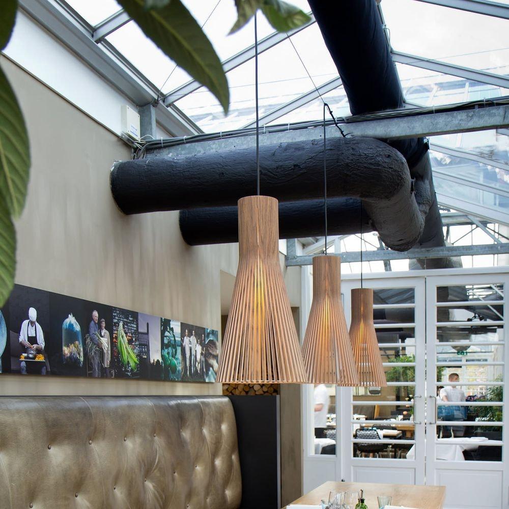 Pendelleuchte Secto 4200 aus Holz Ø 30cm 2