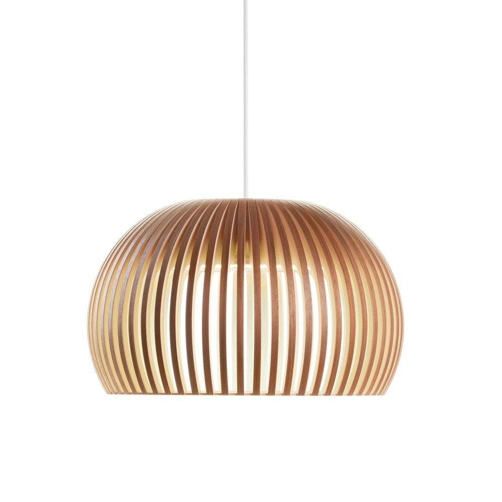 LED Pendelleuchte Atto 5000 aus Holz Ø 34cm 3
