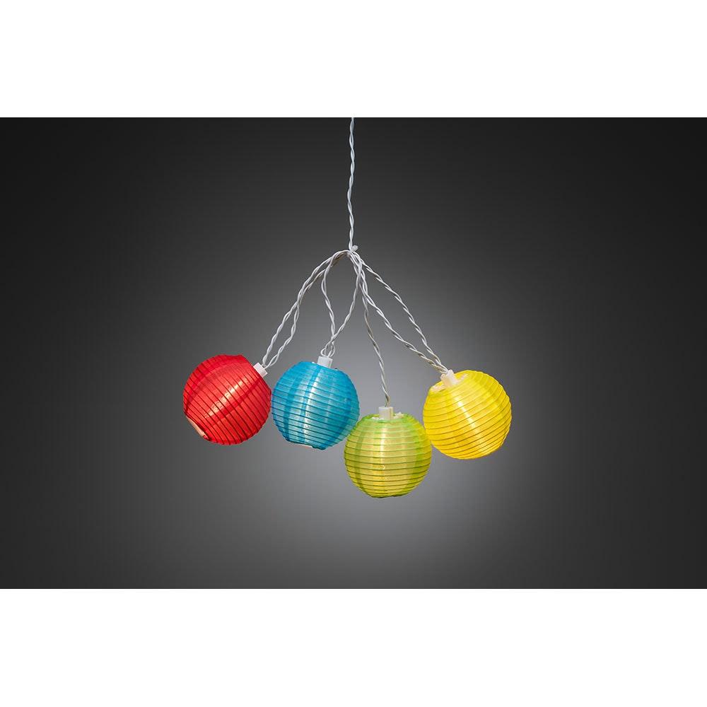 LED Dekolichterkette pinke/blaue/grüne/gelbe Plastikreiskugeln 20 Warmweiße Dioden IP44 2