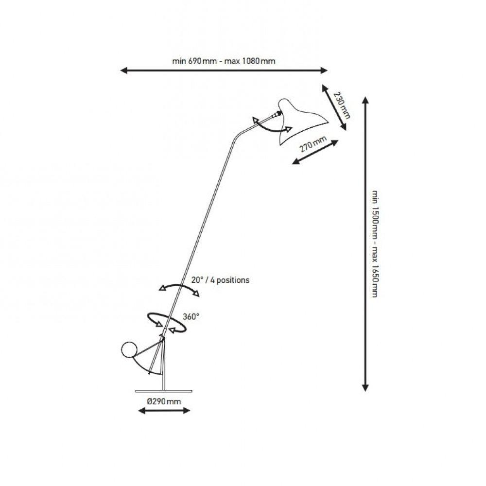 DCW Mantis BS1 Leseleuchte schwenkbar 10