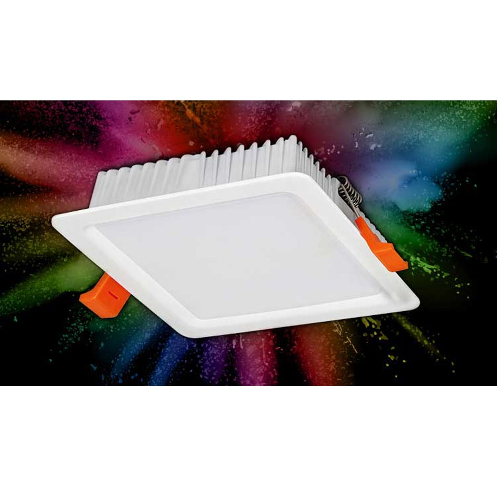 s.LUCE LED-Einbaupanel iLight 12 x 12cm 720lm RGB + CCT 2