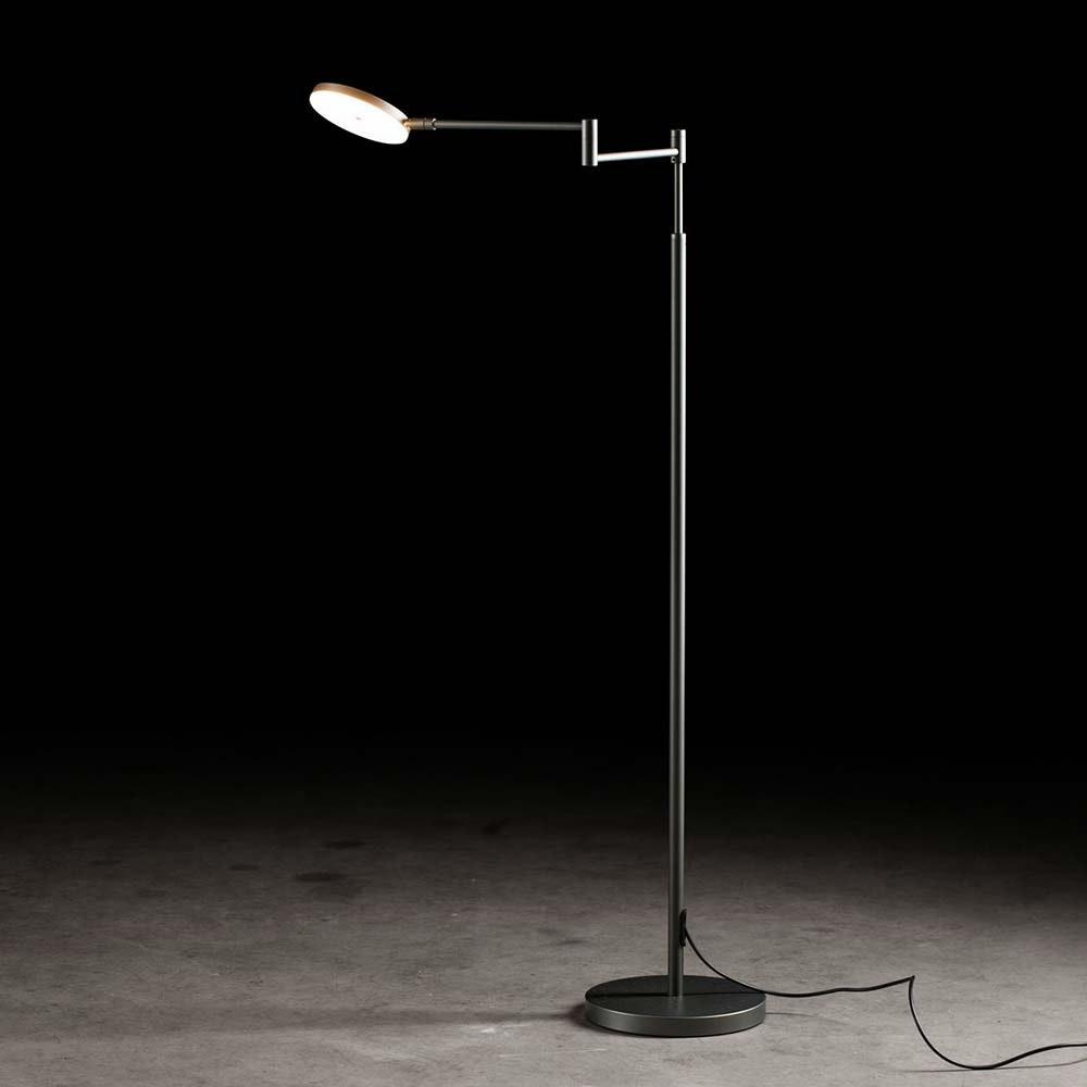 Plano B LED-Stehleuchte 140cm mit Tastdimmer 2000lm Platin 1