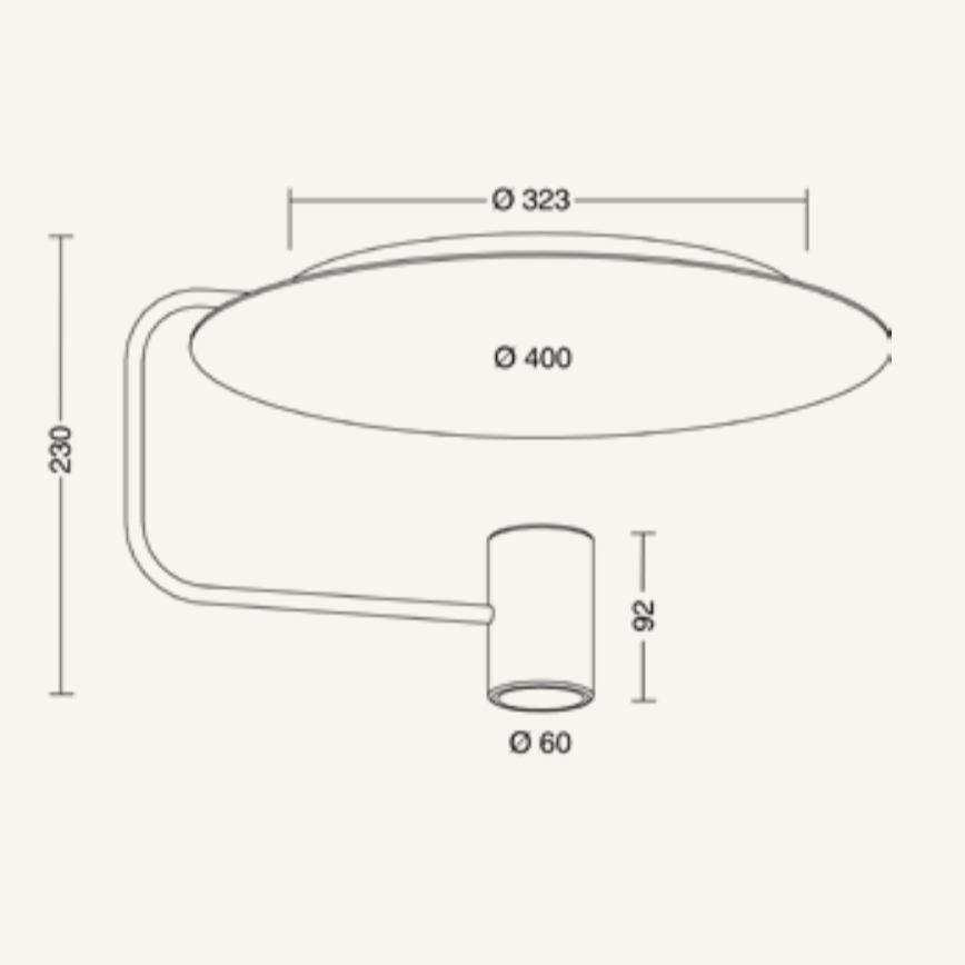 Reflektorplatte für Disc Deckenleuchte Silberfarben 3