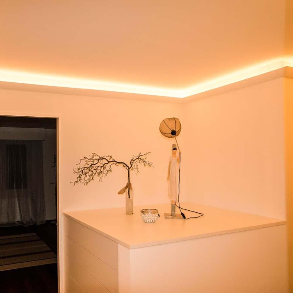 Dekor-Profil 6cm Stuckleiste 1,2 m indirekt Wand oder Decke 5