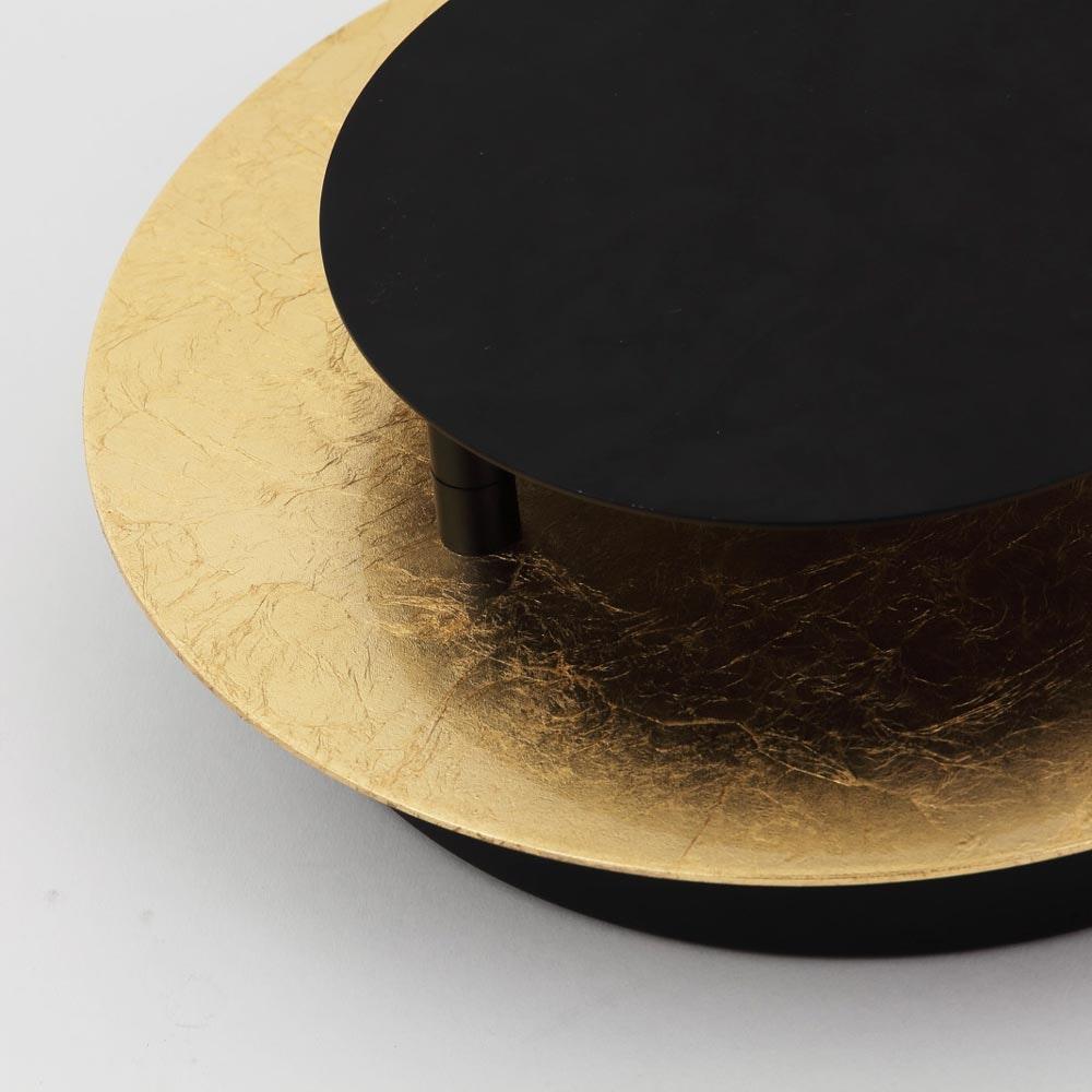 s.LUCE LED Wand- und Deckenlampe Plate Blattgold 10