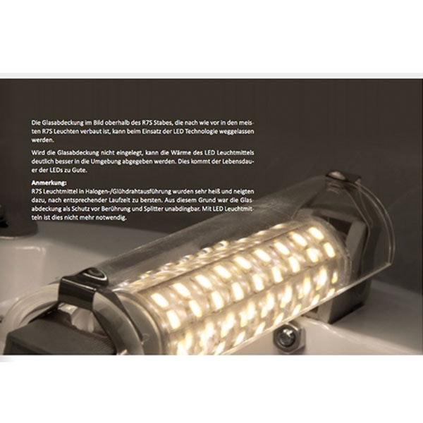 R7s LED Stab Warmweiß 78mm 360° 500lm 5W 5