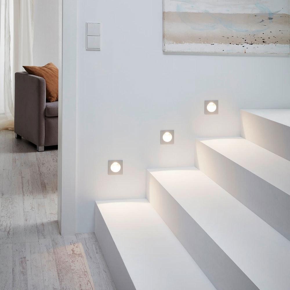 LED-Wandeinbauleuchte Zarate 8 x 8cm Weiß 2