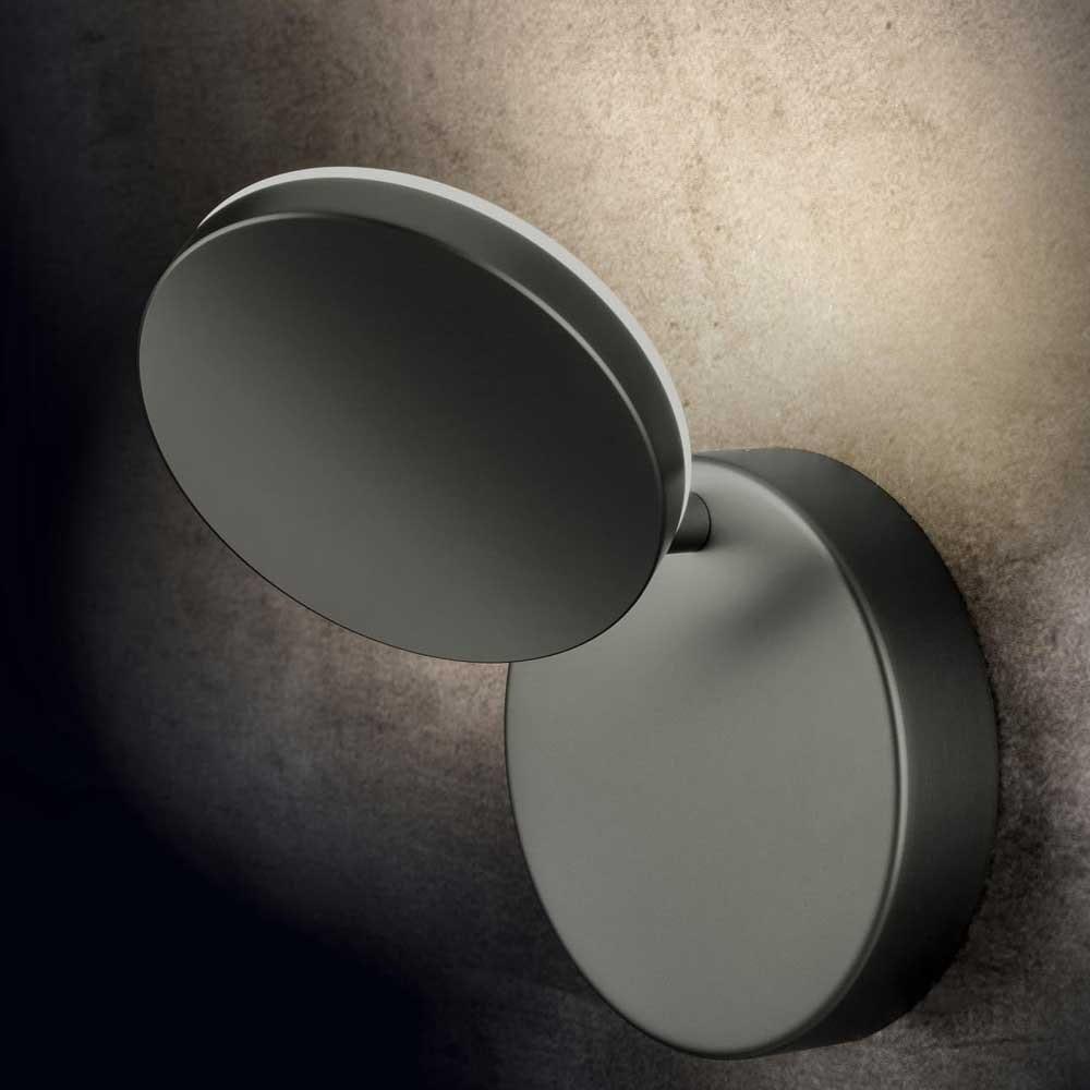 Holtkötter LED-Wandleuchte PLANO WD Platin mit Tastdimmer 2000lm 2700K 1