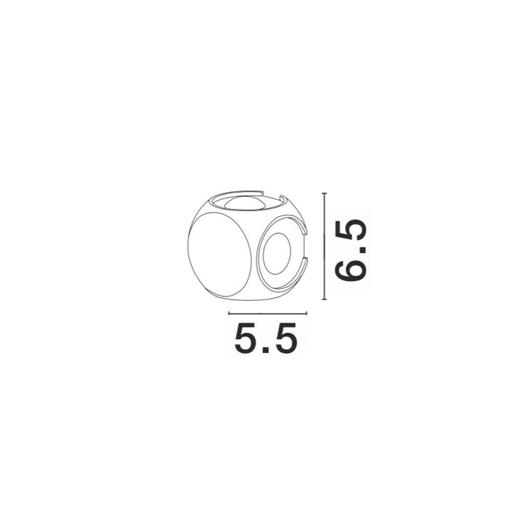 Nova Luce Zari Mini Wandleuchte 5cm Lichtstrahlen IP54 2