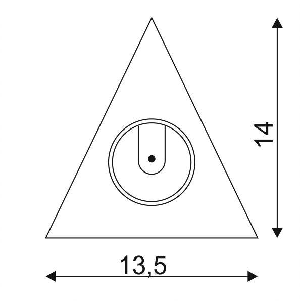 SLV Triangel Einbaugehäuse für 3W Downlight Weiß 3