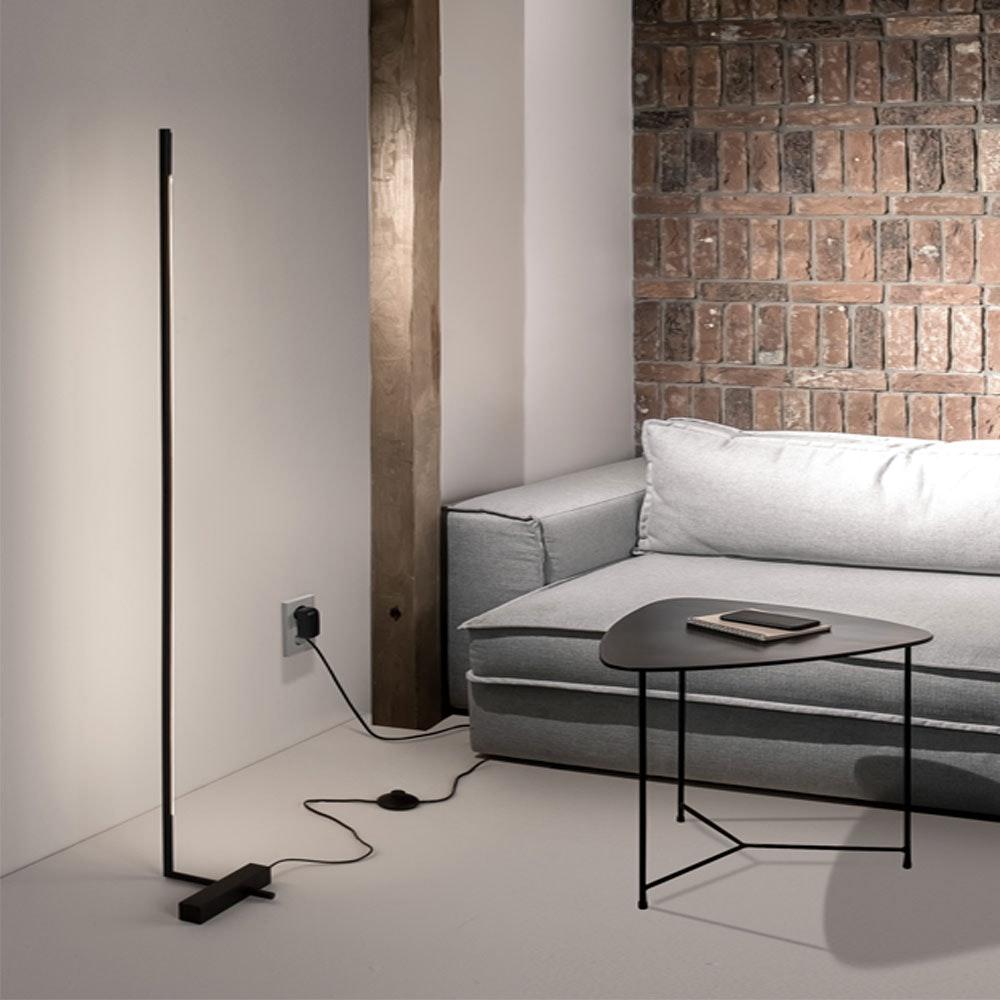 Nova Luce Raccio LED-Stehlampe indirekt drehbar Schwarz 1