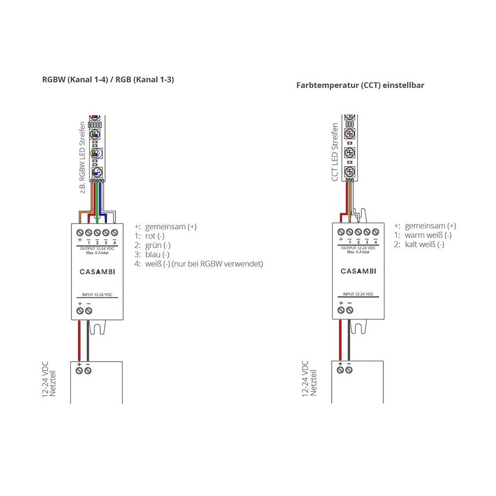 CASAMBI PWM4 Modul Controller Pulsweitenmodulation LED-Strips 2