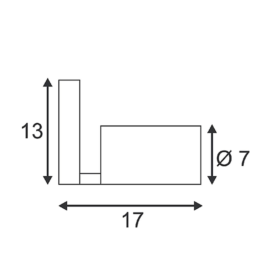 SLV Asto TUBE Wandleuchte weiss 1xGU10 max. 75W 2