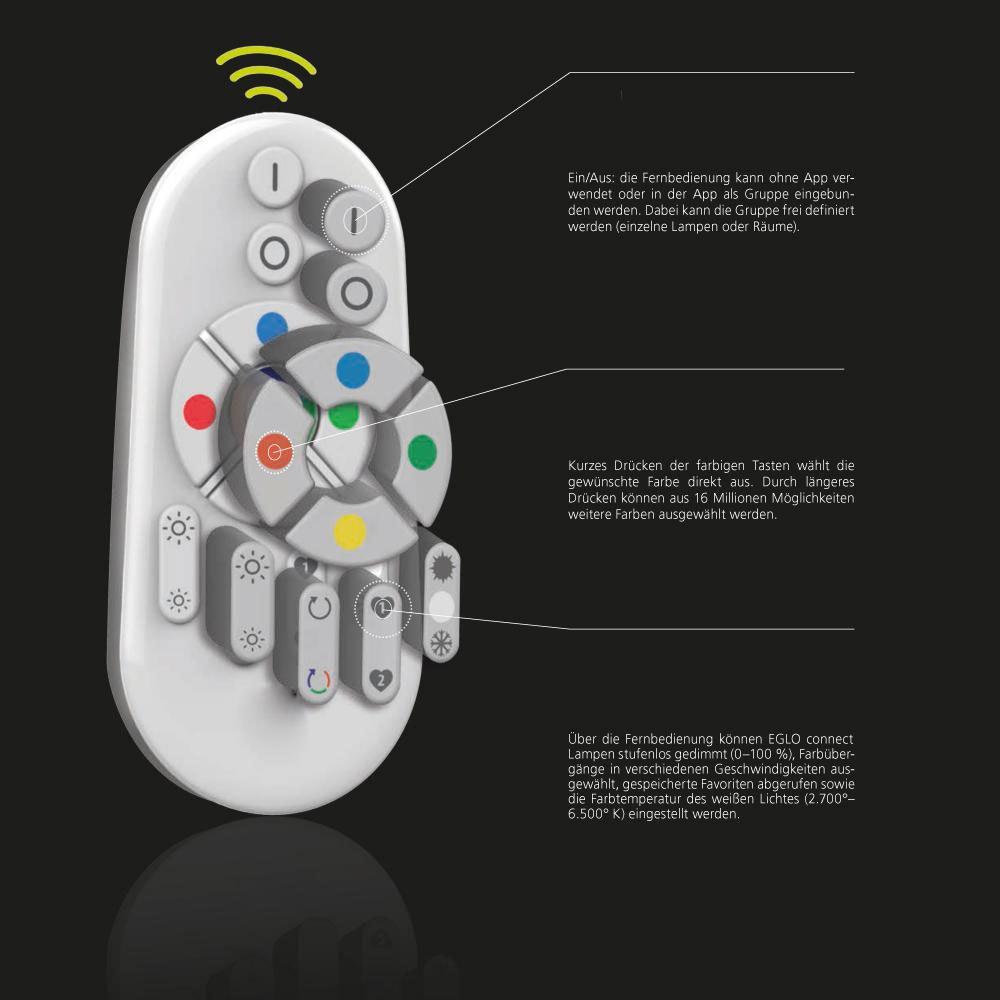 Connect LED Deckenleuchte 3400lm RGB+CCT 8