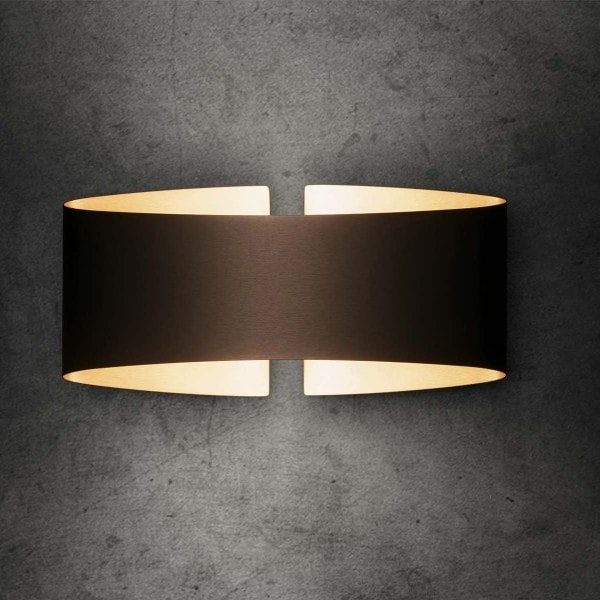 Holtkötter LED-Wandlampe VOILÀ Fumé matt Dimmbar 800lm 2700K 1
