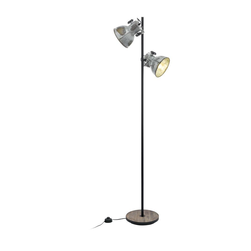 Licht-Trend Vintage Stehlampe Salvador 2-flg. Zink