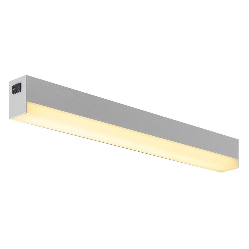 SLV Sight LED Wand- und Deckenleuchte mit Schalter 60cm Silber 2