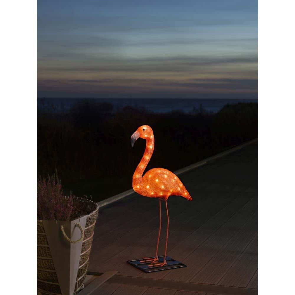 LED Acryl Flamingo klein 48 bernsteinfarbene Dioden IP44 1