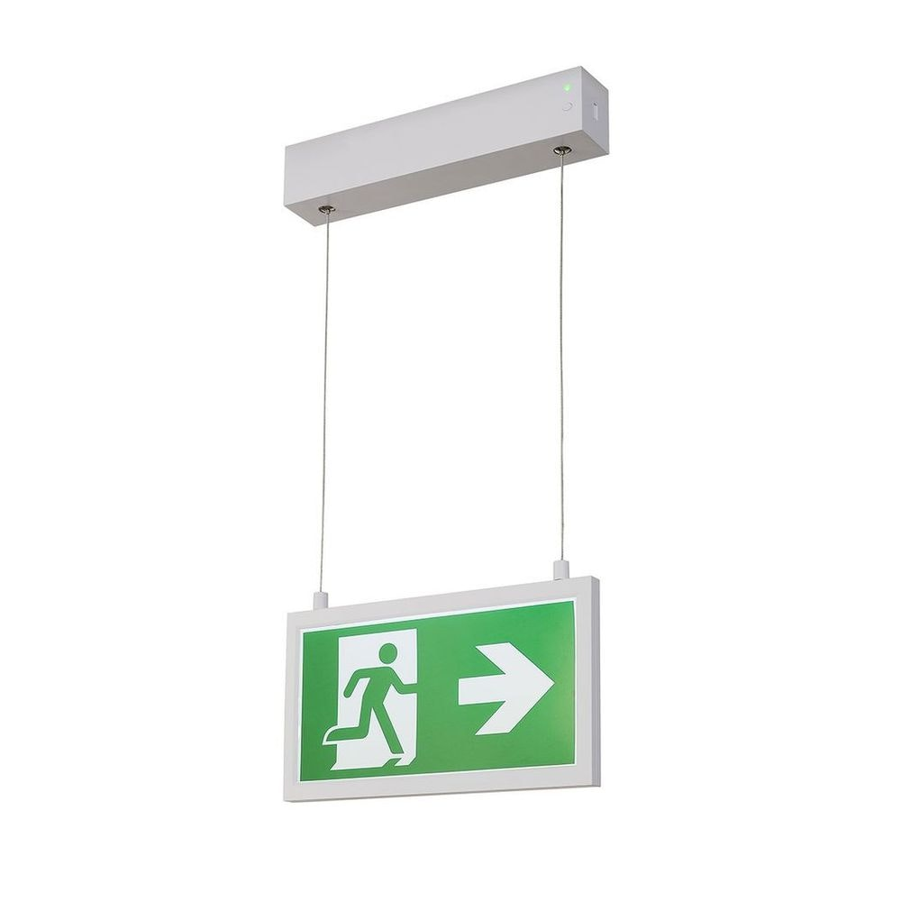 SLV P-Light Emergency Series Exit Sign Small Pendant Weiß