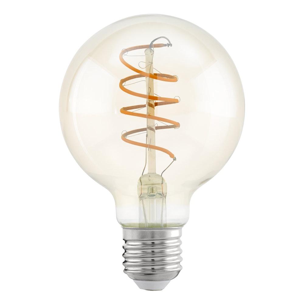 E27 LED Spirale Ø 8cm 4W, 400lm Warmweiß 1