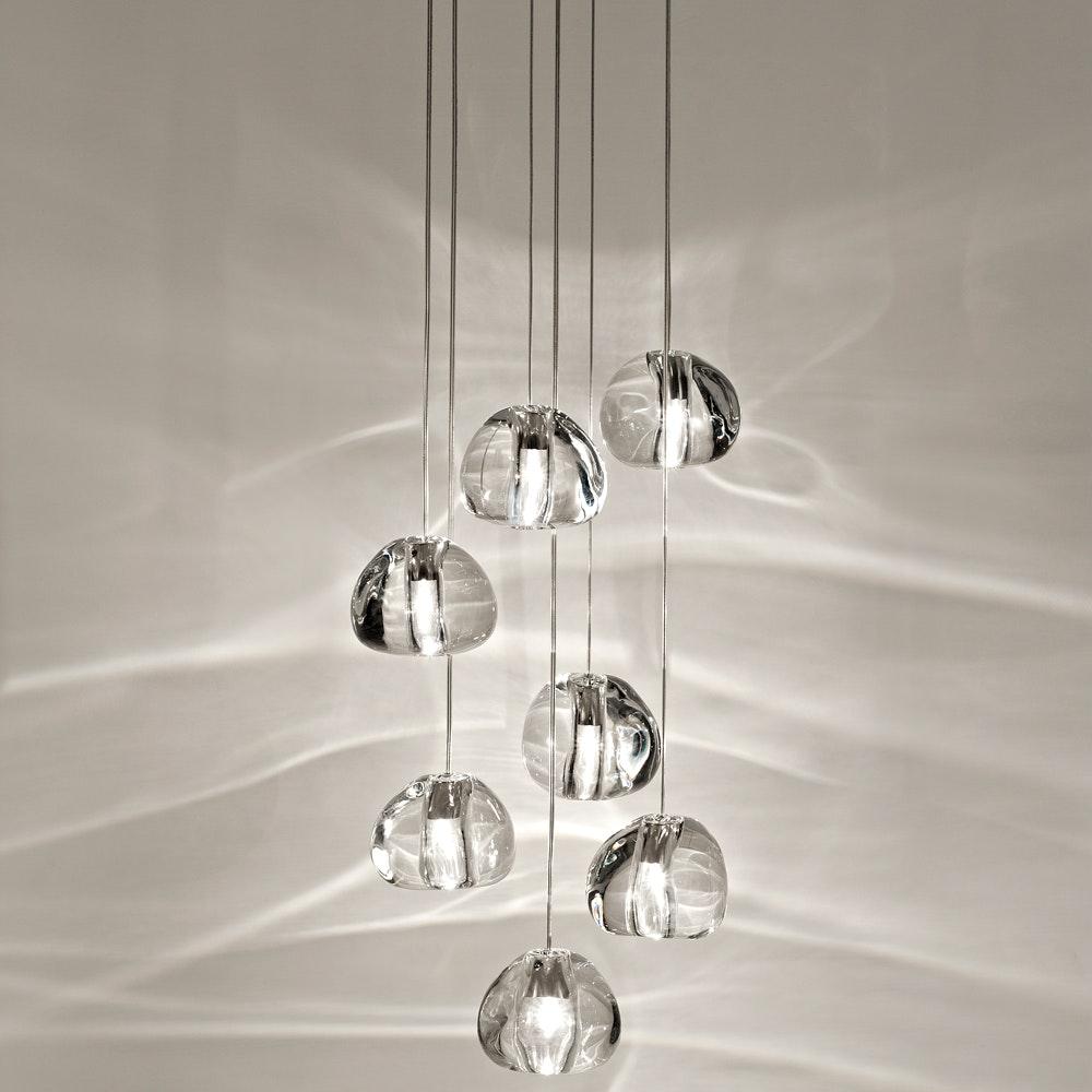 Terzani Mizu Design Hängeleuchte 7-flammig Ø 31cm