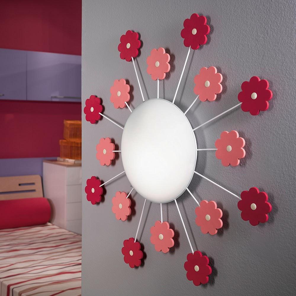 Viki 1 Wand- & Deckenleuchte Ø 61,5cm Weiß, Pink