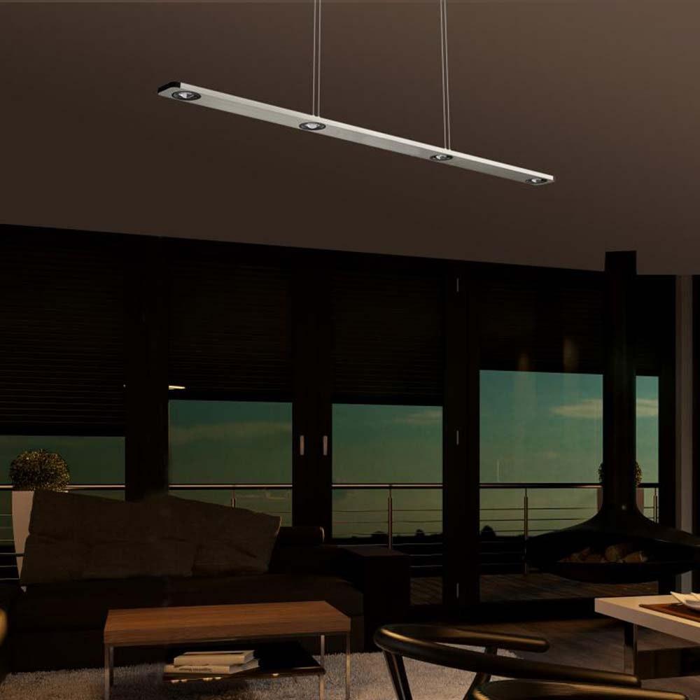 Lightwave LED 4er-Pendelleuchte 110cm mit Touch-Dimmer 1440lm , 2700K