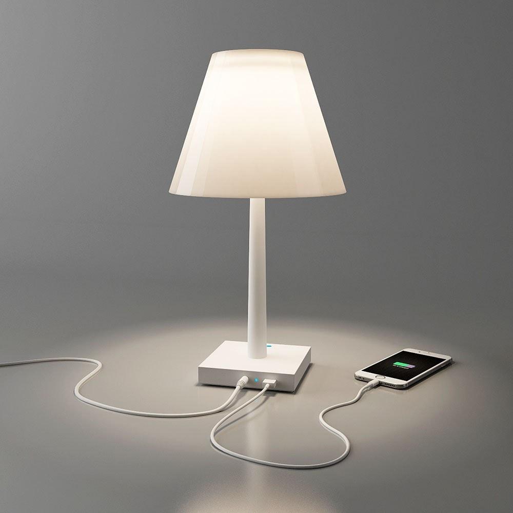 Dina+ Akku LED-Tischleuchte mit Ladestation Weiß thumbnail 4