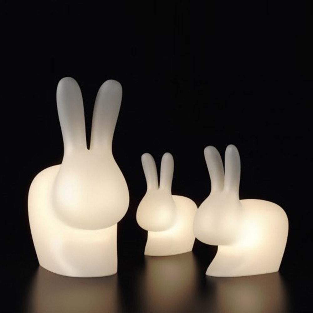 Qeeboo Rabbit LED Dekolampe mit farbigem Licht 8