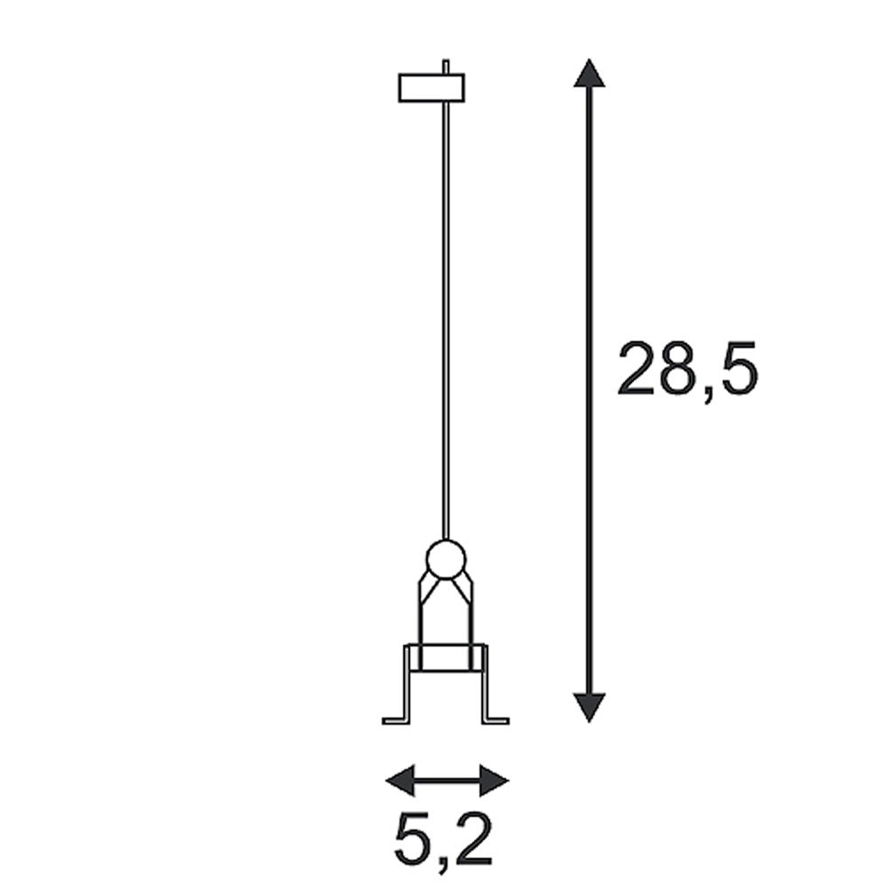 SLV Seilleuchte QRB chrom G53 max. 50W 2