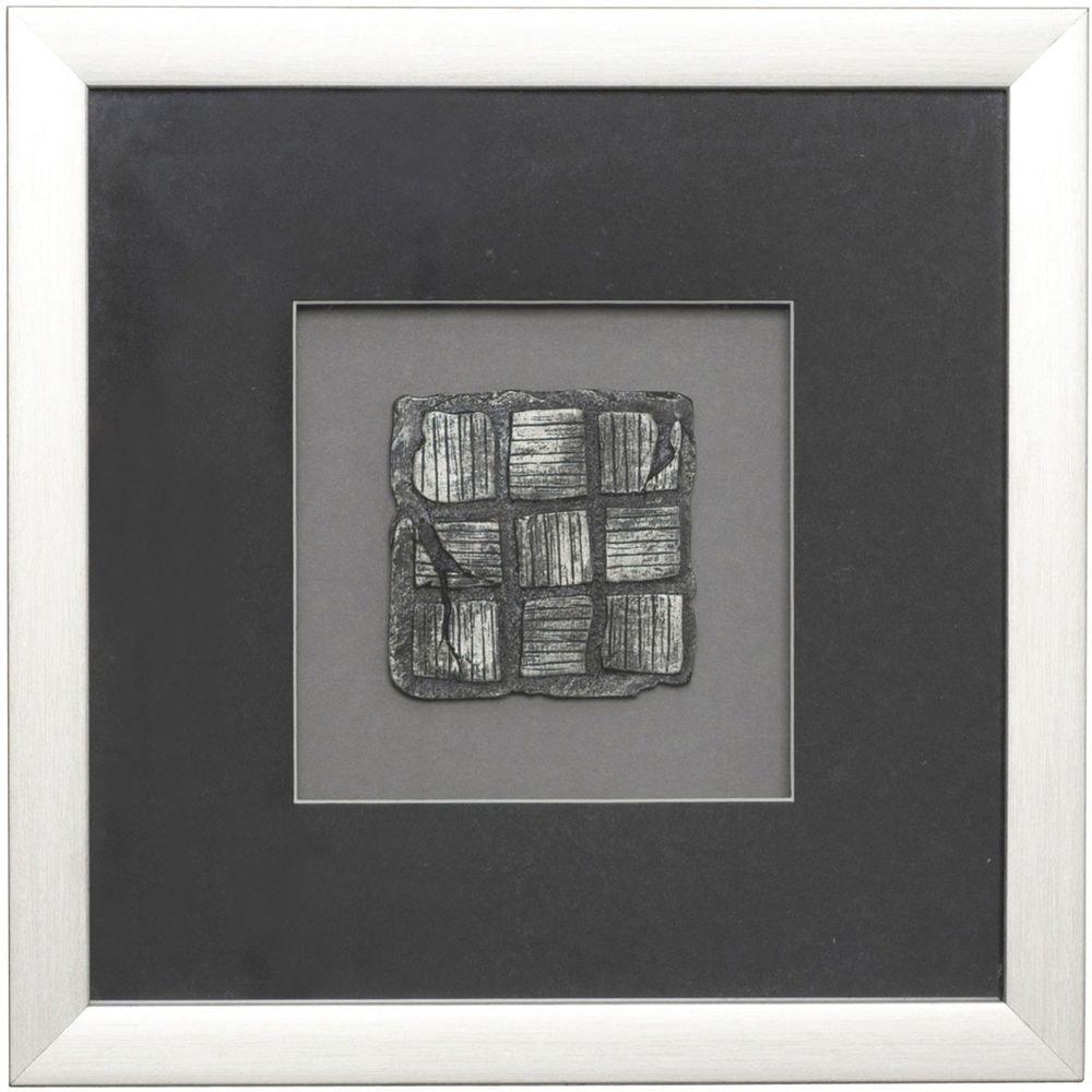 Wandbild Risultato 1 Holz-Glas-Kunststein Silber-Schwarz 3