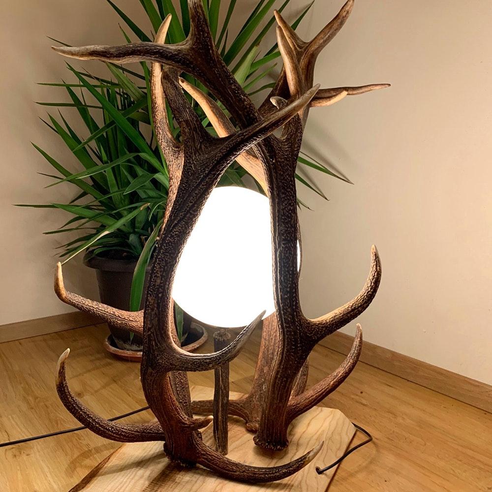 Chalet Geweih Stehlampe Rothirsch 70cm 2