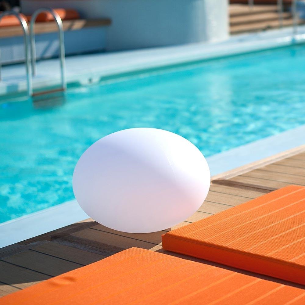 LED Akkulampe Flatball L mit App-Steuerung 2
