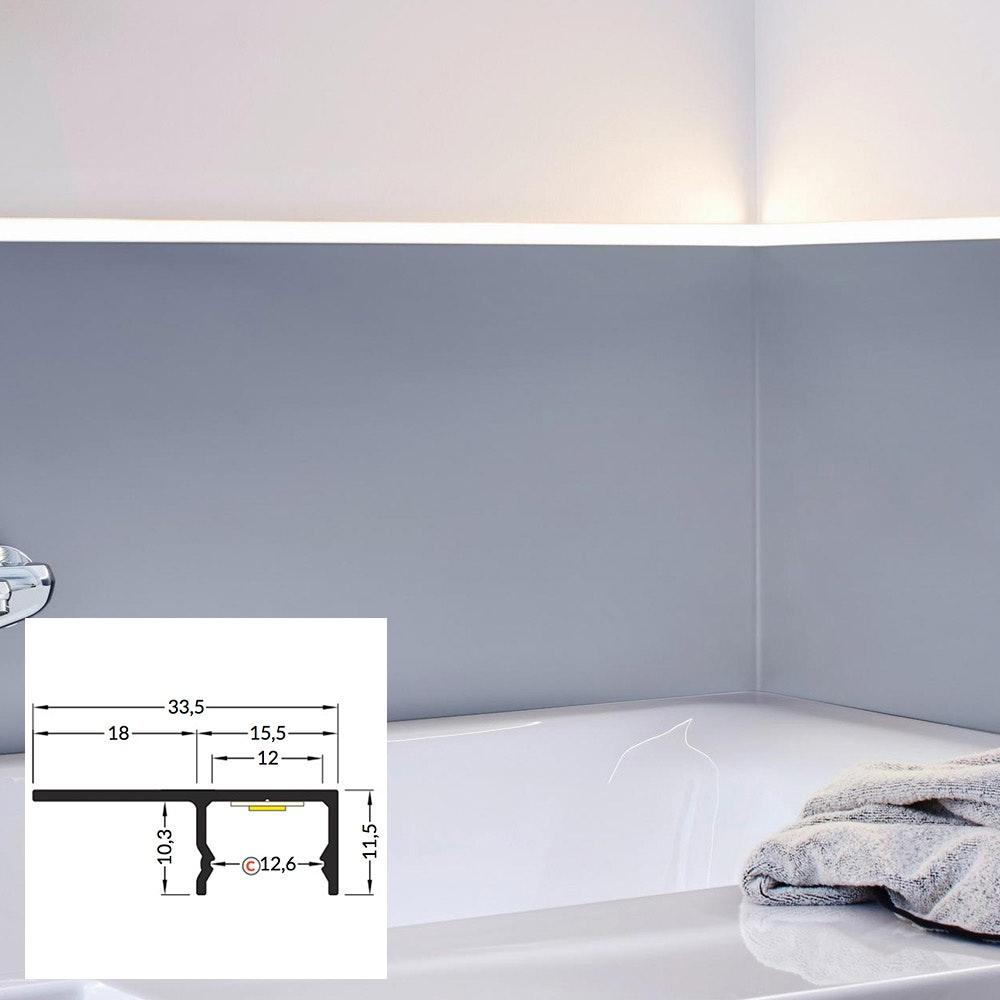 LED Aluminium Profil 2m alle Varianten  9