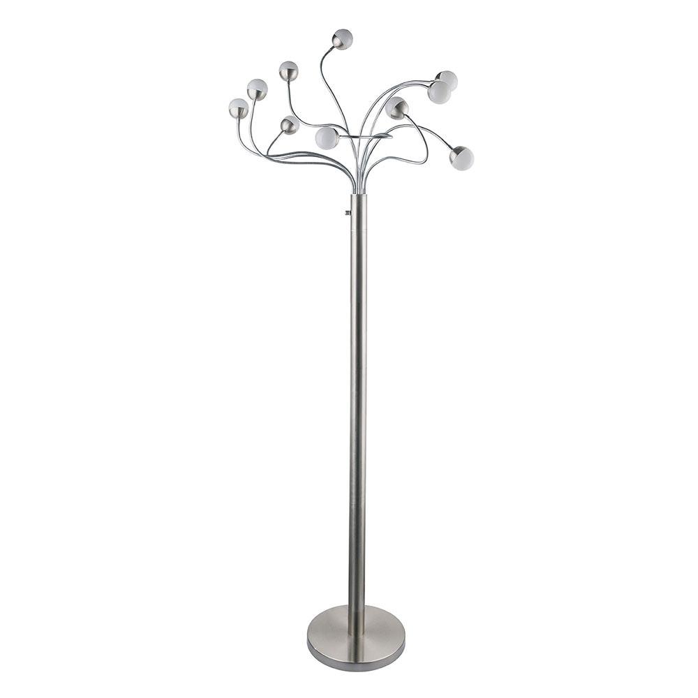 LED Stehleuchte Roslin 10 x Flexo Nickel-Matt, Opal, Weiß 4