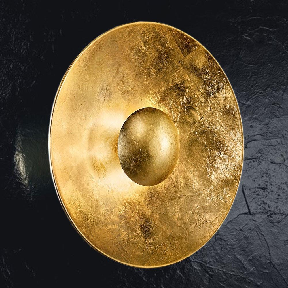 Aura Sol Gold Wand- & Deckenleuchte Ø 60cm