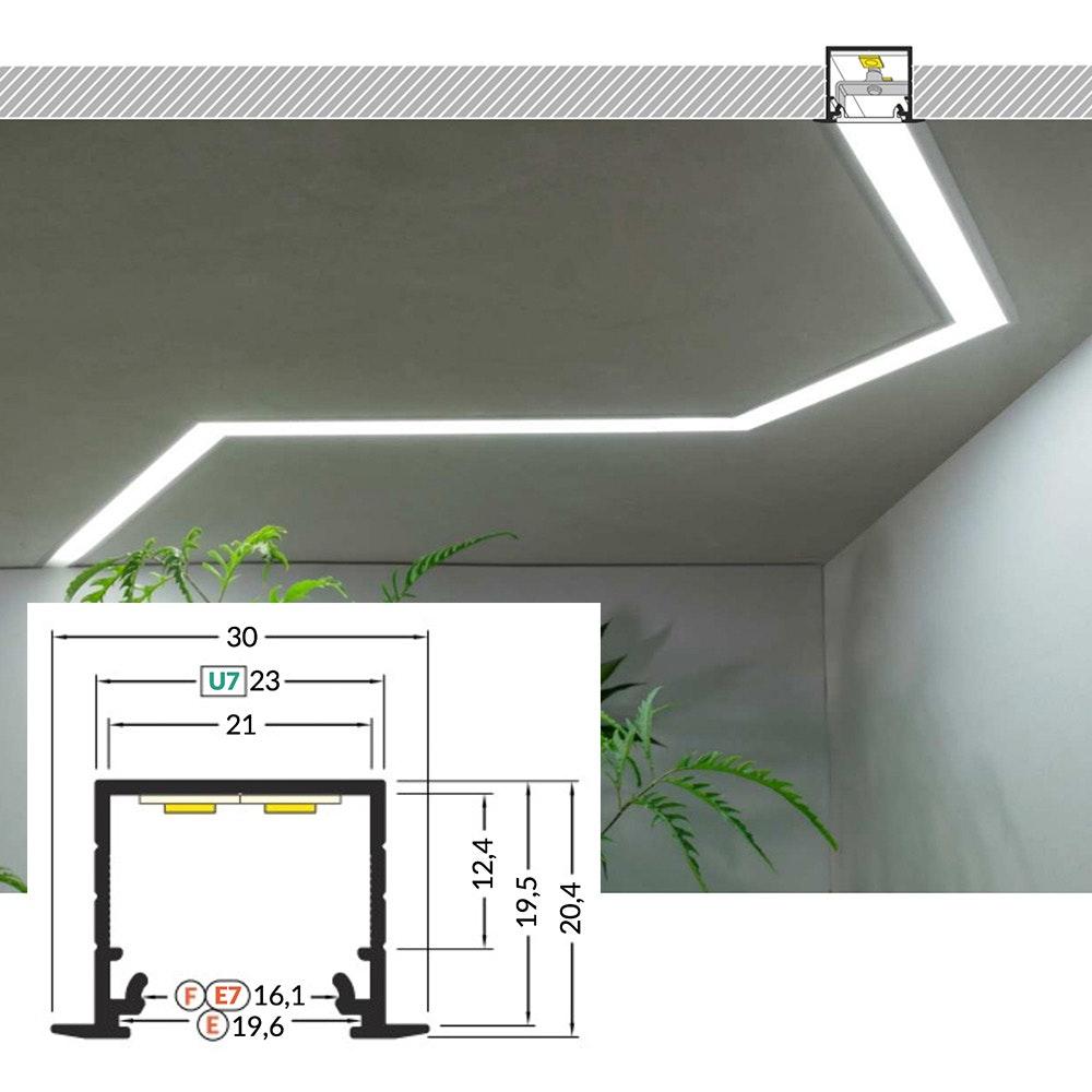 LED Aluminium Profil 2m alle Varianten  11