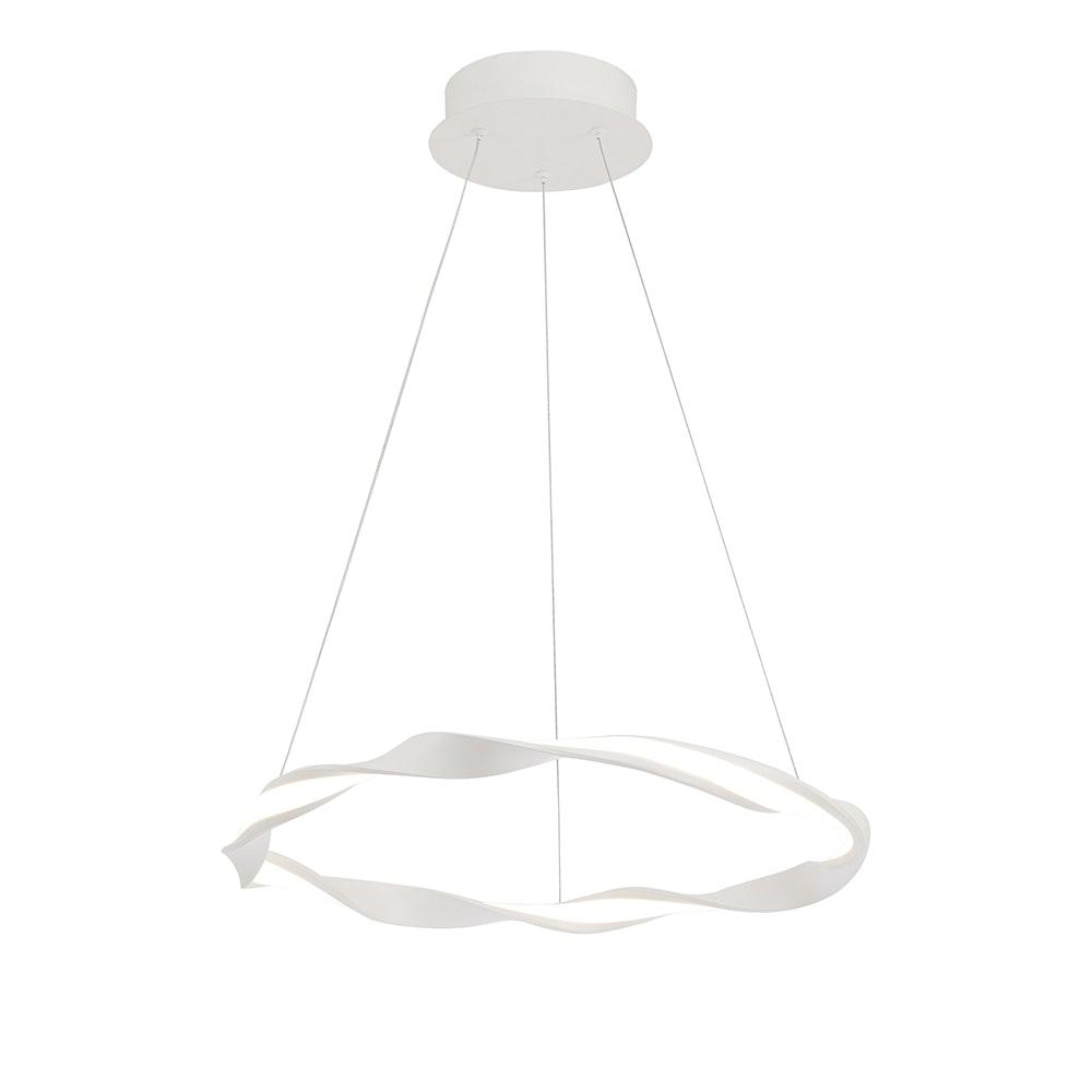 Mantra Madagascar LED-Pendelleuchte Weiß Rund 2