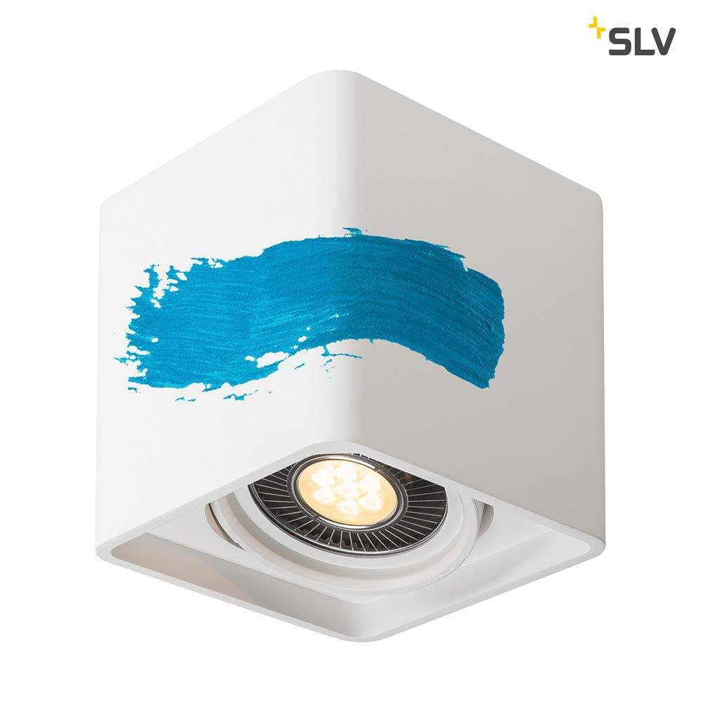 SLV Plastra Gips Deckenleuchte LED Eckig 5
