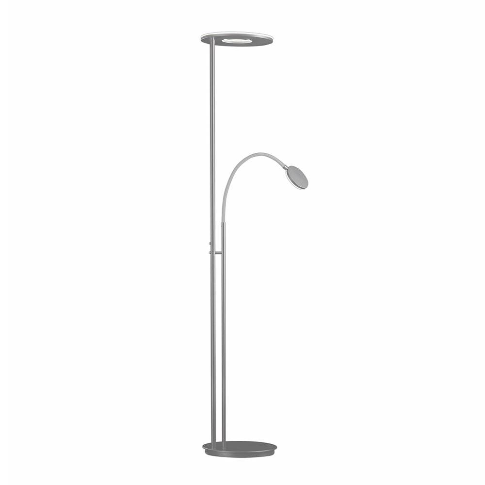 Holtkötter Stehlampe NOVA FLEX Alu-Matt, Grau Tastdimmer Power LED warm 2