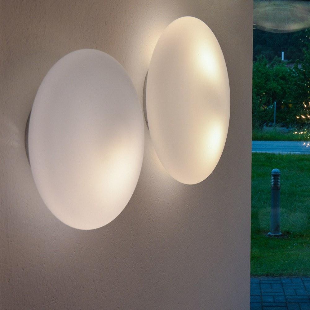 s.LUCE Pane 45 puristische Glas Decken-& Wandleuchte Weiß 7