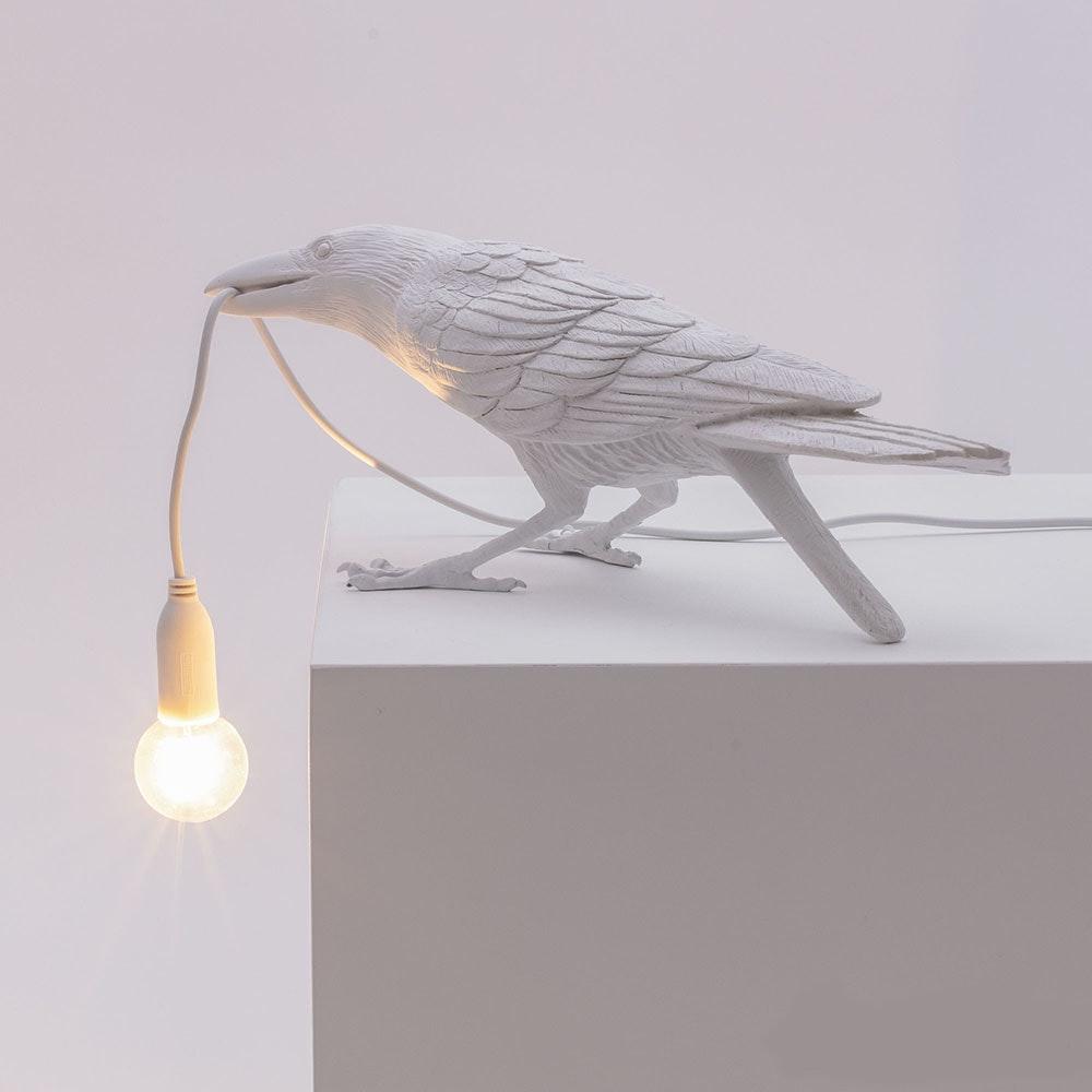 Seletti Bird Aussen-Tischleuchte gebeugt