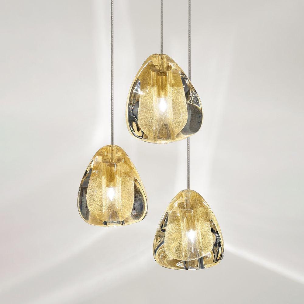 Terzani Mizu Design 3er-Hängelampe Ø 22cm