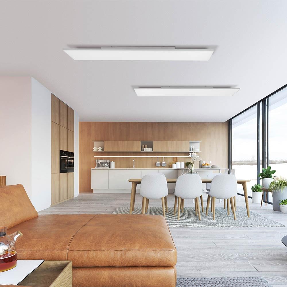 Q-Flat 2.0 rahmenloses LED Deckenlampe 100 x 10cm CCT + FB Weiß thumbnail 3