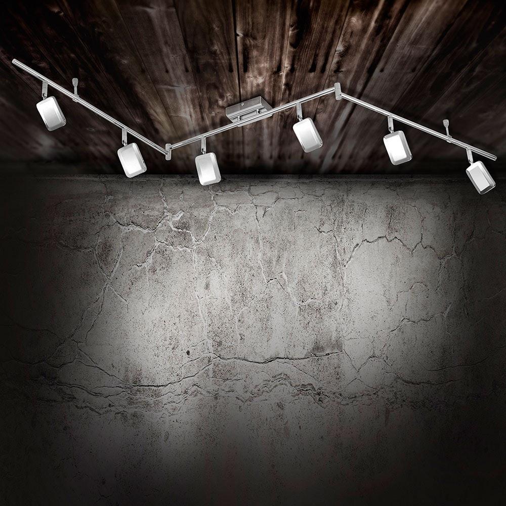 Wella LED Deckenleuchte schwenkbar 6x 4,20W 3000K Chrom 1